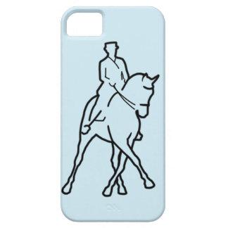 馬場馬術の馬の線画 iPhone SE/5/5s ケース