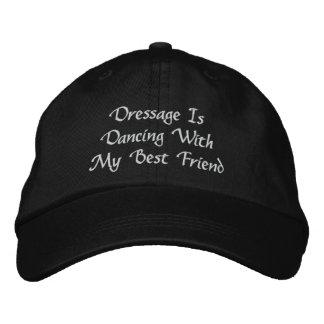 馬場馬術は刺繍された野球帽を踊っています 刺繍入りキャップ