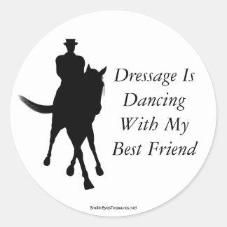 馬場馬術は親友の馬のステッカーを踊っています ラウンドシール