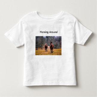 馬好きのための幼児のTシャツ トドラーTシャツ