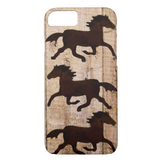 馬好きのカウボーイの素朴な木製のiPhone 7の場合 iPhone 8/7ケース