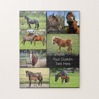 馬好きのカスタムな写真のパズル ジグソーパズル