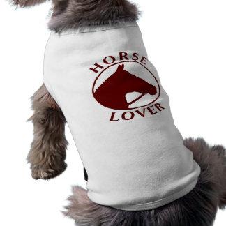馬好きの小犬のワイシャツ ペット服