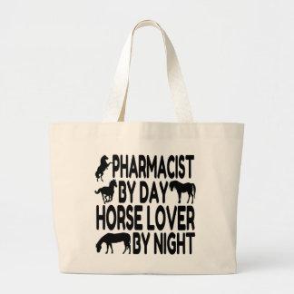 馬好きの薬剤師 ラージトートバッグ