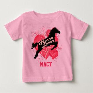 馬好き名前入りなMacy ベビーTシャツ