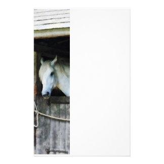 馬小屋の白馬 便箋