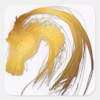 馬年2014年-ステッカー スクエアシール