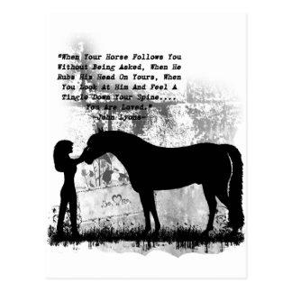 馬愛されます ポストカード