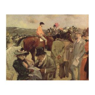 馬競争、c.1890 ウッドウォールアート
