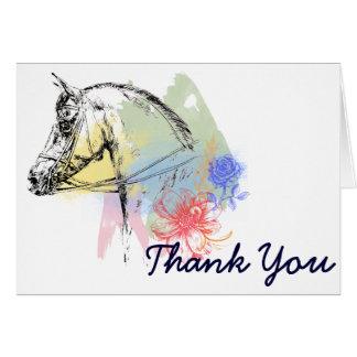 馬頭部の水彩画 カード
