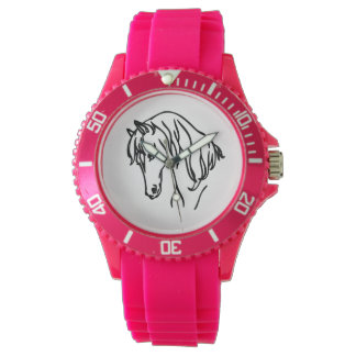 馬頭部の腕時計 腕時計
