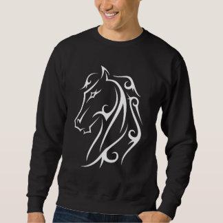 馬頭部ライトデザインの馬のアートワークのワイシャツ スウェットシャツ