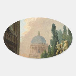 馬飼いならされたののローマの想像眺め 楕円形シール