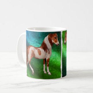 馬11ozのクラシックなマグを絵を描いて下さい、色のスタイルを変えて下さい コーヒーマグカップ