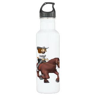 馬3の女性のカーボーイ ウォーターボトル