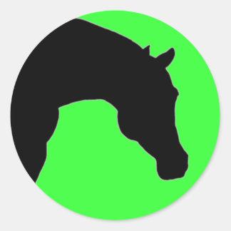 """""""馬""""のライムのステッカー ラウンドシール"""
