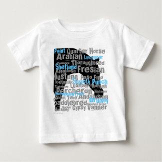 """""""馬""""は乳児Tを繁殖させます ベビーTシャツ"""