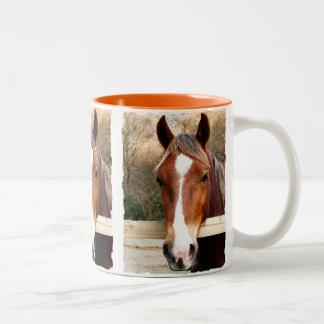 馬 ツートーンマグカップ