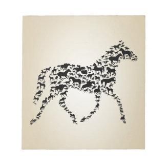馬 ノートパッド