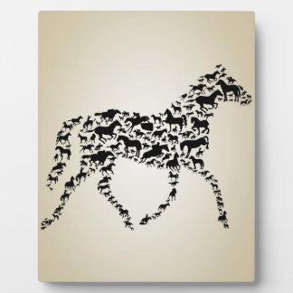 馬 フォトプラーク