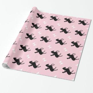 馬/子馬のピンクの女の子 ラッピングペーパー