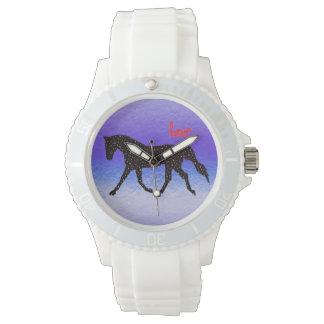 馬、愛およびハート 腕時計