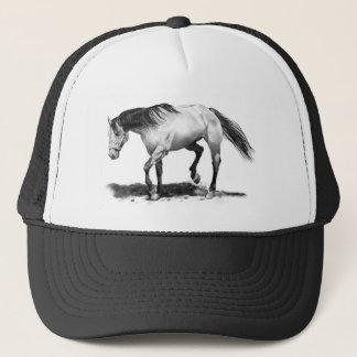 馬、種馬、鉛筆の芸術の現実主義 キャップ