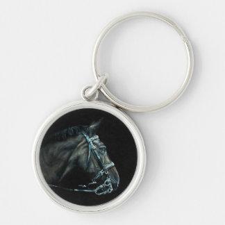 馬Keychain -乗馬のファインアートの再生 キーホルダー