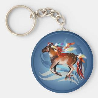 馬Nの明るい羽Keychain キーホルダー