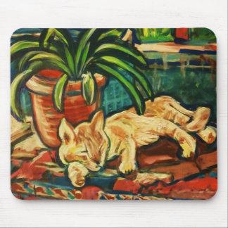 駅の猫-トレド、スペイン マウスパッド