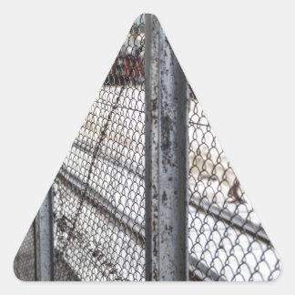 駅ミャンマー 三角形シール