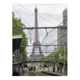 駅、パリからのエッフェル塔の眺め ポストカード