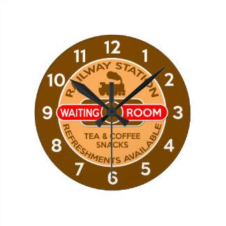 駅 ラウンド壁時計