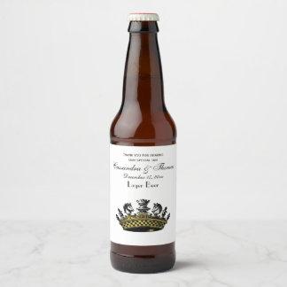 駒色のヴィンテージの王冠 ビールラベル