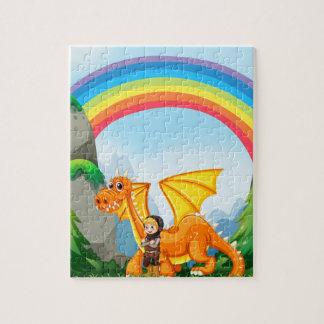 騎士およびドラゴン ジグソーパズル