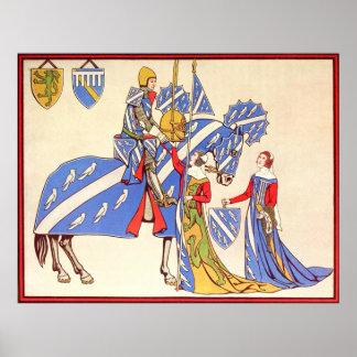 騎士および娘 ポスター