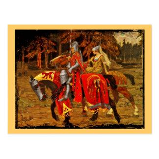 騎士および未婚の騎士 ポストカード