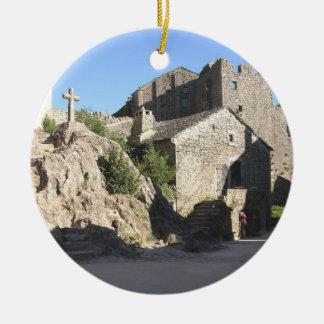 騎士が造る強化された教会の眺め セラミックオーナメント