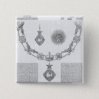 騎士の爵位の等級の記章 5.1CM 正方形バッジ