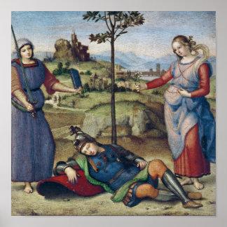 騎士の視野、c.1504 ポスター