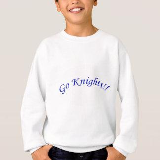 騎士は行きます! 曲げられた青い文字の白いスエットシャツの子供 スウェットシャツ