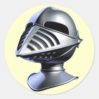 騎士ヘルメットのステッカー 丸型シール