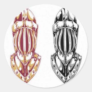 騎士ヘルメットのデザイン 丸型シール