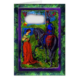 騎士及びプリンセスの挨拶状 カード