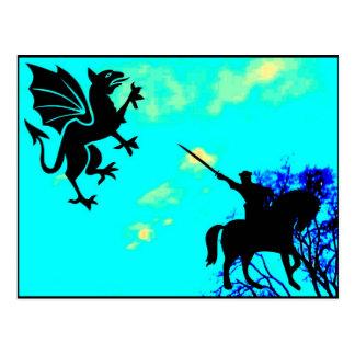 騎士対Gryphon ポストカード