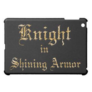 騎士輝くな装甲金ゴールドの一見の文字 iPad MINIカバー