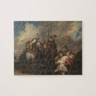 騎士(キャンバスの油)の戦い ジグソーパズル