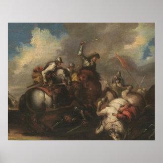 騎士(キャンバスの油)の戦い ポスター