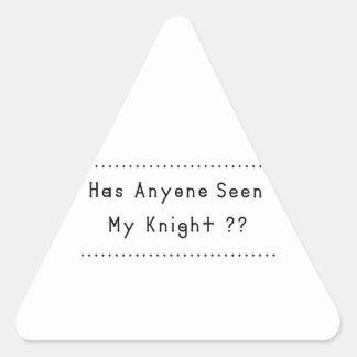 騎士 三角形シール