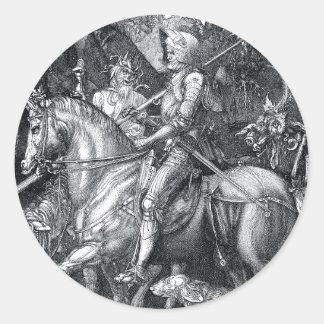 騎士、死および悪魔-アルブレヒトDürer ラウンドシール